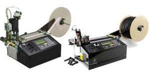 Maquina cortadora de tubos termorretractil, goma, cintas de persiana, nilon